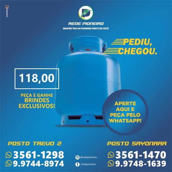 Preço do gás Rede Pioneiro