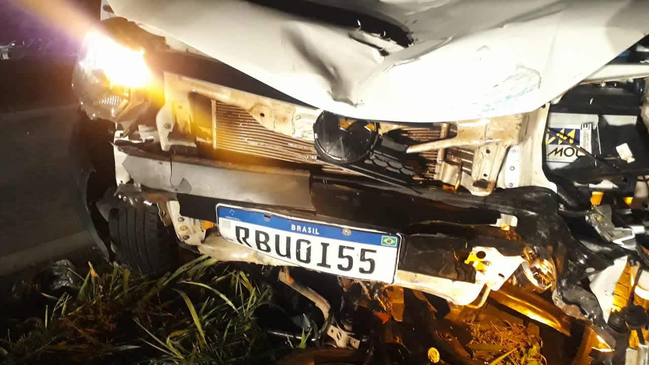 Foto mostra a placa do veículo