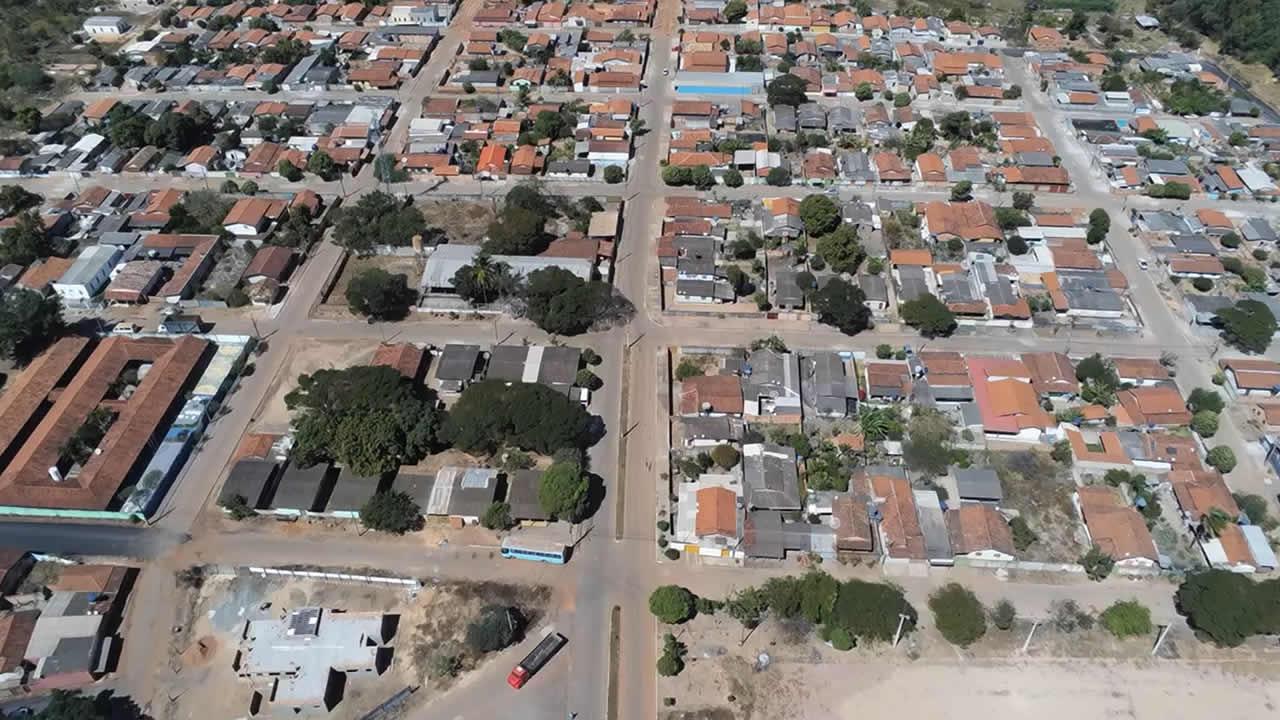 Imagem da aérea da vila São Sebastião