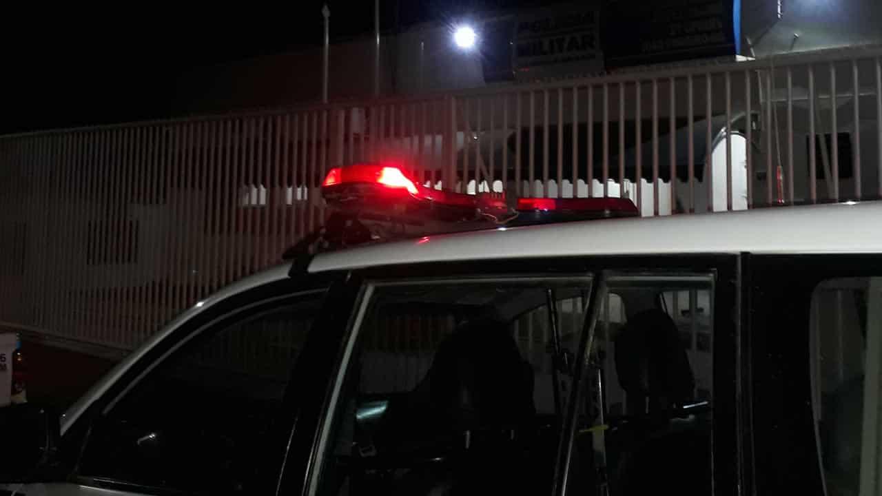 Luzes da viatura da Polícia Militar de João Pinheiro
