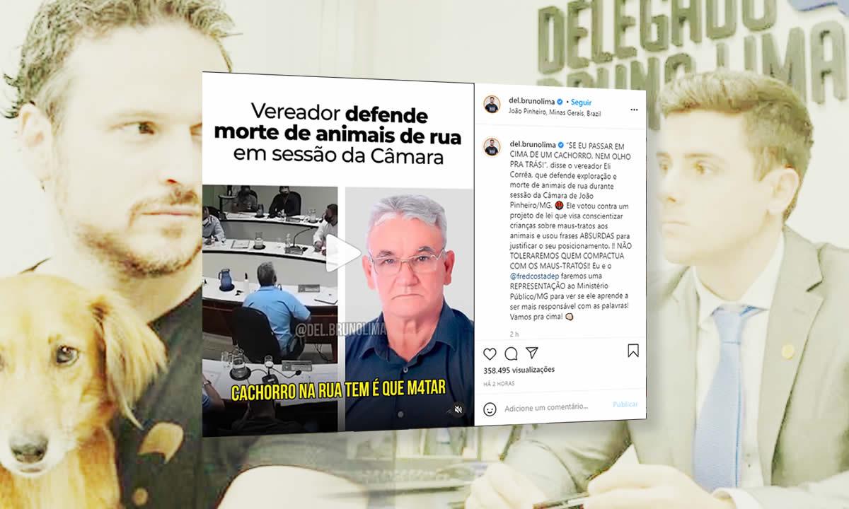Publicação na página do Deputado Delegado Bruno Lima