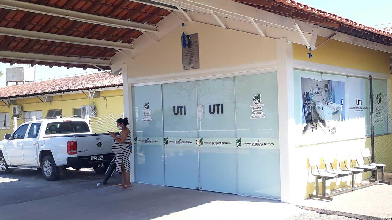 Fachada da UTI da cidade de João Pinheiro