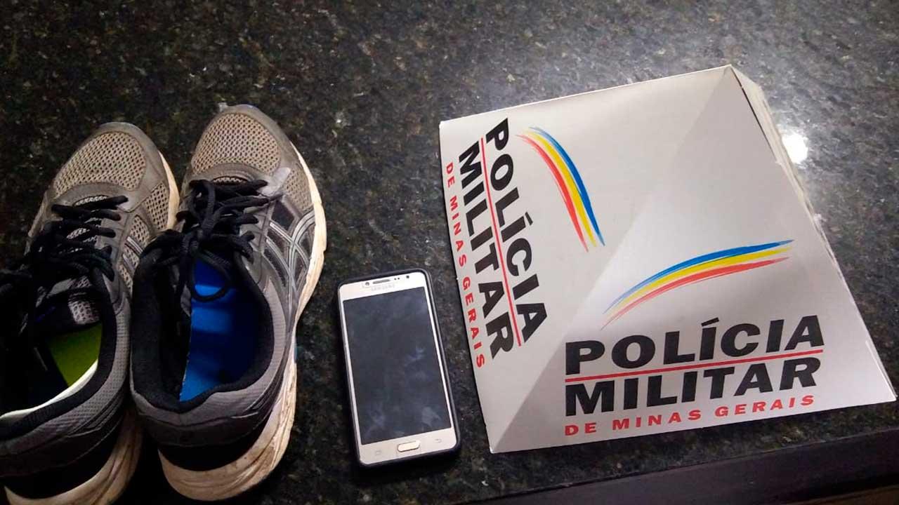 Material recuperado pela Polícia Militar