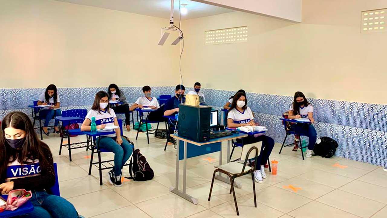 Sala de aula do Colégio Visão