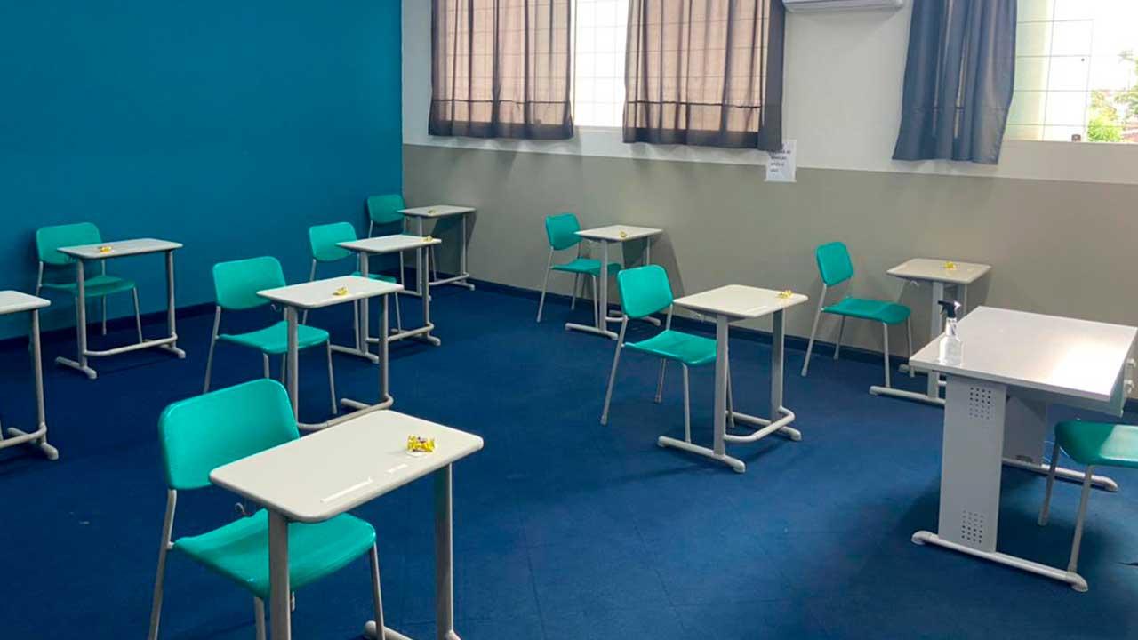 Sala de aula do Colégio Darcília Coimbra