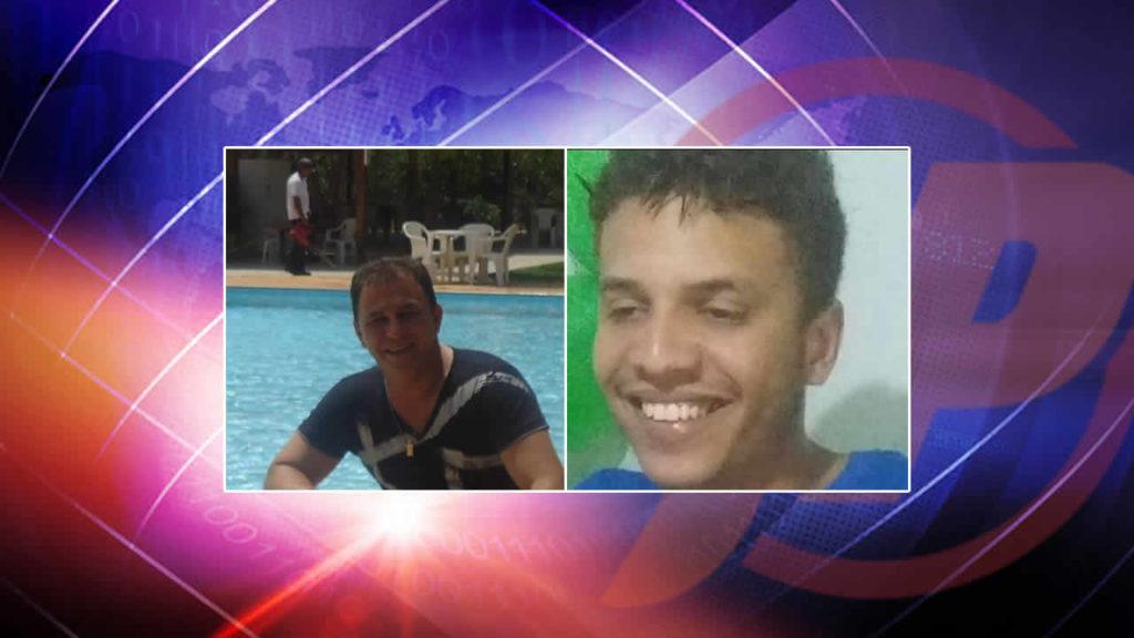Wesley Guimarães e Thiago Menezes , suspeitos de estarem transportando pasta base de cocaína