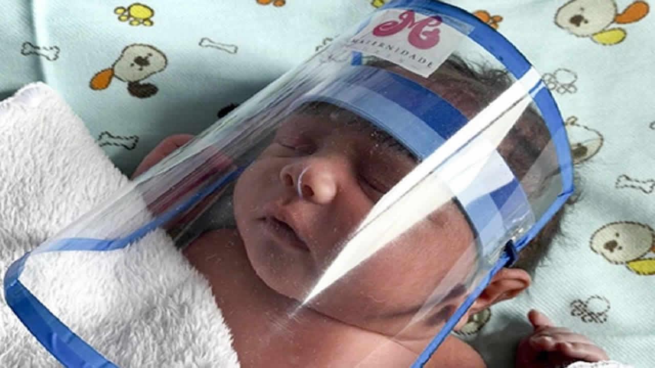 Bebe que nasceu com anticorpos para a Covid-19