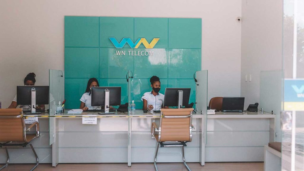 Equipe de atendimento da WN Telecom em João Pinheiro