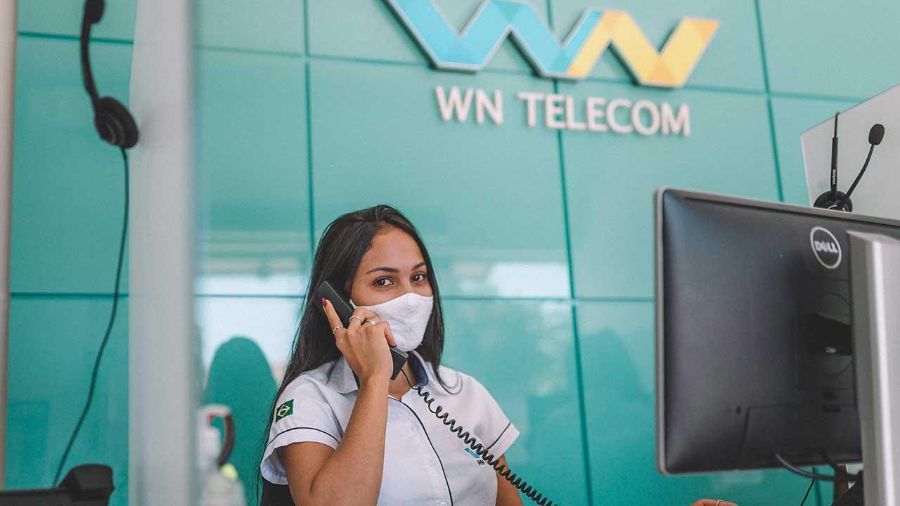 Atendente da WN Telecom em João Pinheiro