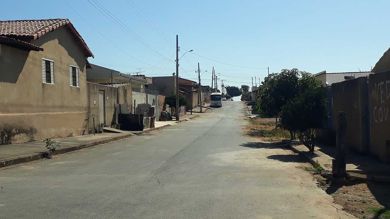 Rua onde o furto aconteceu