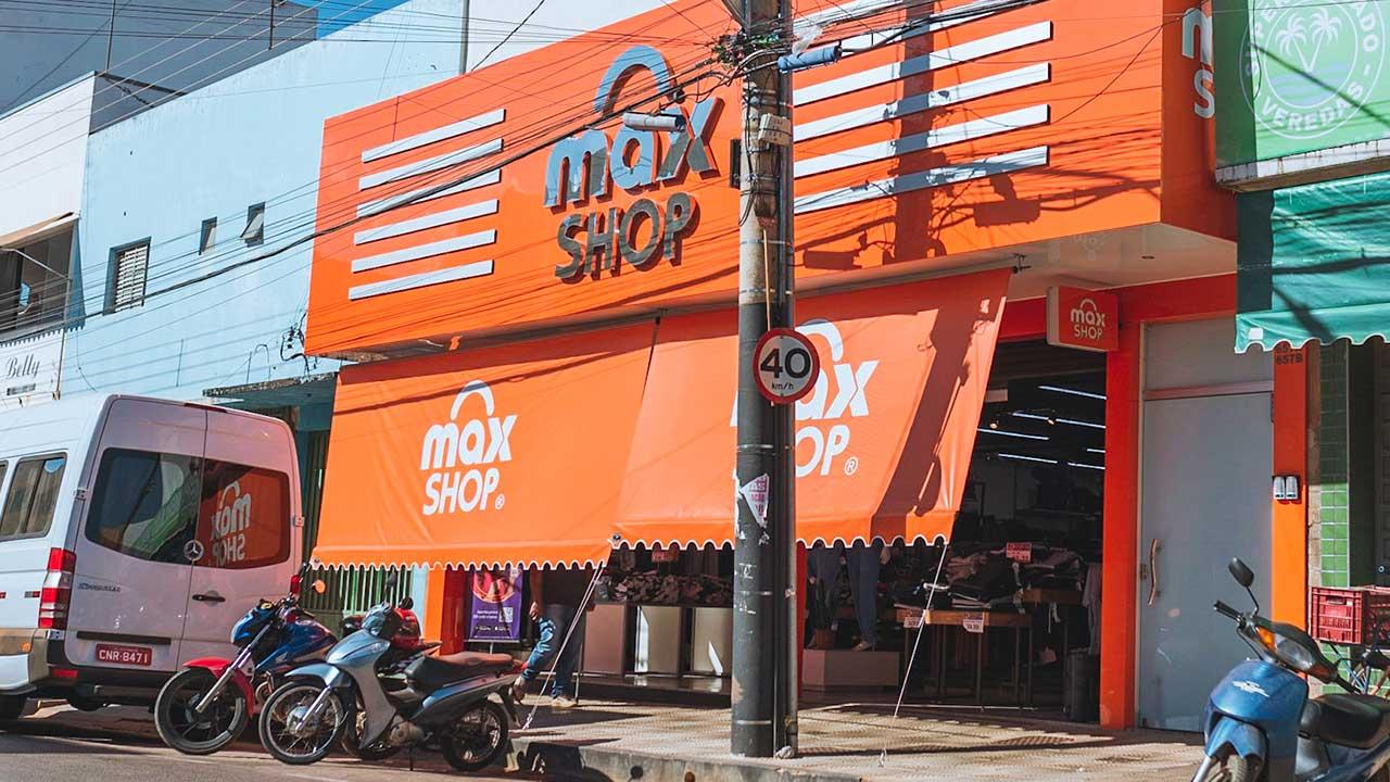 Fachada da loja Max Shop em João Pinheiro