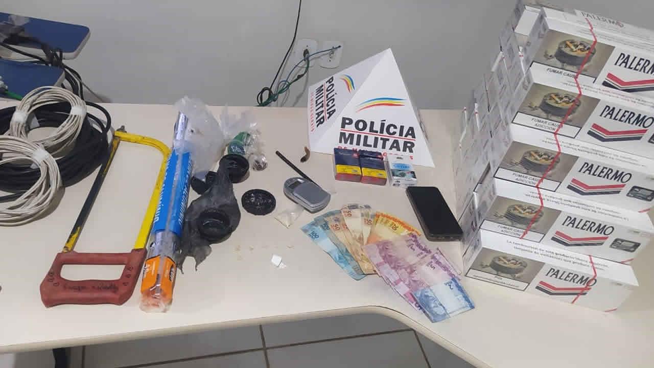 Organização criminosa responsável por receptação e tráfico de drogas em João Pinheiro é desmantelada pela PM