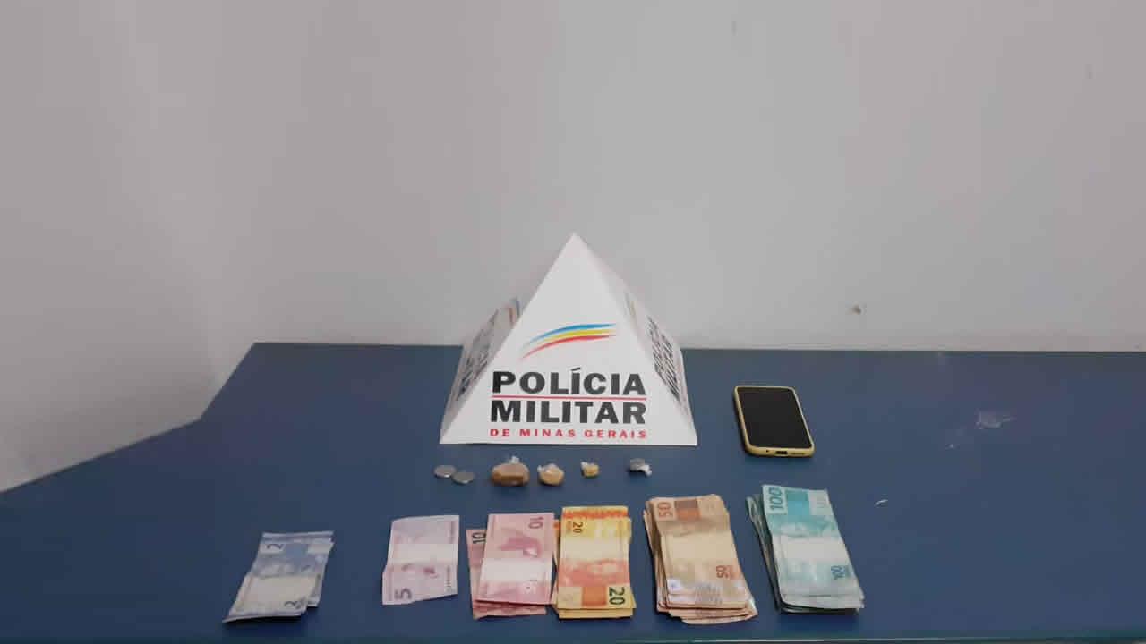 Suspeito de tráfico é preso com maconha, crack e mais de R mil em dinheiro no distrito de Luizlândia do Oeste