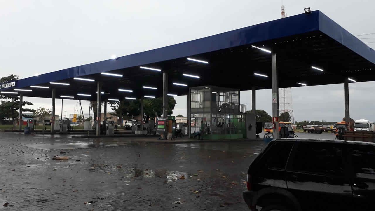Criminosos armados e encapuzados roubam posto de combustíveis em Luizlândia do Oeste (JK)